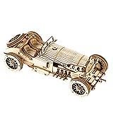 Robotime Grand Prix Car Puzzle 3D Madera Maquetas para Construcción Mecánica Laser Cut Puzzle De Madera Artesanía para Adultos