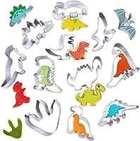 【Dino Keksausstecher Set】11 Stück verschiedene dinosaurierformen,calling alle Dinosaurier-Liebhaber! Fans von Jurassic Park werden unsere Tyrannosaurus Rex und Triceratops Ausstechform graben, es ist perfekt für Kekse für eine. 【Premium Qualität】Anti...