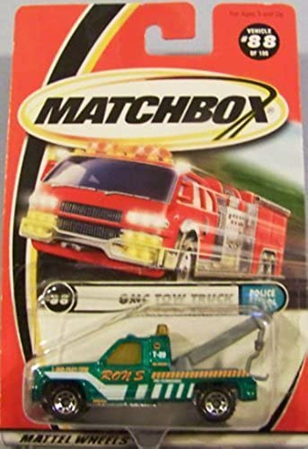 GMC Tow Truck Matchbox 2000 Police Patrol Series  88 of 100 Grün 1 64 Scale Collectible Die Cast Car by Matchbox