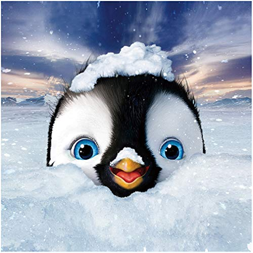 DIY 5d Diamond Painting Kits for Adults, Full Drill Embroidery, DIY 5d Round Diamond Rhinestone Stickers Wall Decor Art for Women (Ice Snow Penguin 13.3x13.3inch)