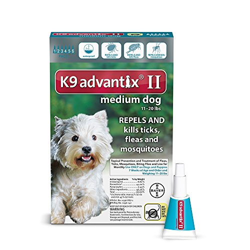 K9 ADVANTIX II FOR MEDIUM DOGS 6 pack