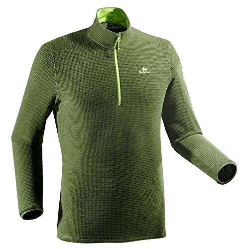 Quechua MH500 Men's Mountain Hiking Fleece - Khaki Green (S)