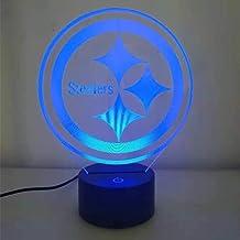 Pittsburgh Steelers 7 kleuren, eenvoudig licht 3D / LED nachtlampje, nachtkastje, nachtlampje, kinderlamp, bureau tafeldec...