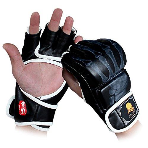 MMA Boxhandschuhe, Training Handschuhe Profi von Martial professionelle Qualität Muay Thai, Sandsack, Boxsack, Freefight, Grapling, Kampfsport Halb Mitts Sparring Boxhandschuhe