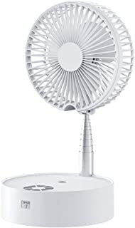 Adesign Ventilador de la bruma portátil con Ventilador Personal Light Mini Eléctricos 7200mAh Recargable con Pilas del Ventilador del humidificador Ventilador USB for Office/Home (Color : White)