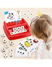 Matching Letter Game, Preschool Lauguage Learning Toys, Educational and Spelling Games for Kids 3 4 5 Years Olds
