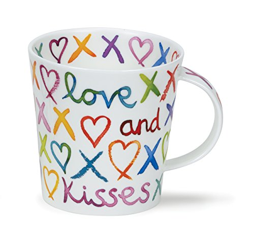 DUNOON Bone China Becher Love, Hugs und Kisses Oxo Becher Cairngorm Made in England???Perfekt f?r Mama, Auntie, Oma, Nanna - Love & Kisses