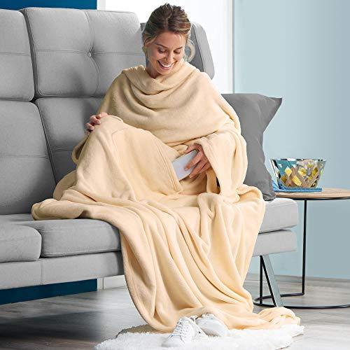 — Decke mit Sleeves XL TV von flauschig...