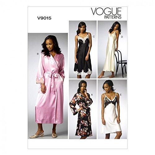 Vogue Schnittmuster 9015Bademantel und Unterkleid Größen: 6–44–12–14
