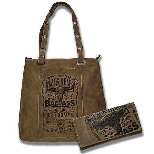 Jack's Inn 54 Americano Bundle braun Americano Shopper Handtasche braun mit Geldbörse Value braun