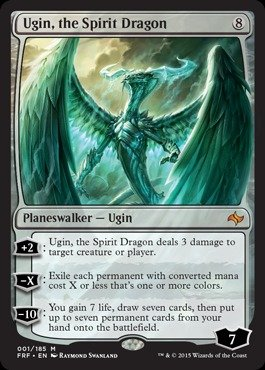 Magic The Gathering - Ugin, The Spirit Dragon (001/185) - Fate Reforged - Foil