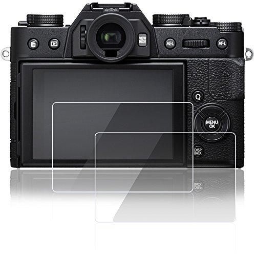 AFUNTA Proteggi Schermo per Fujifilm X-T10 X-T20, 2 Pack Pellicole protettive in Vetro temperato AntiGraffio per Fotocamera Digitale DSLR