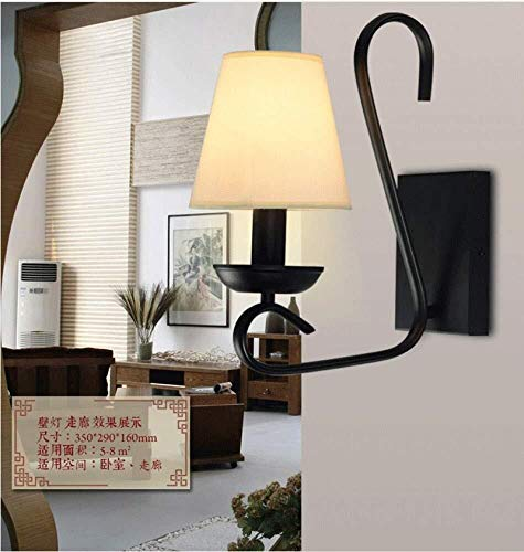 L.J.JZDY Wall Lamp Led Wall Light Sconce Living Room Bedside Wall Lamp Retro Interior Aisle Corridor Wall Lamp,Black,A