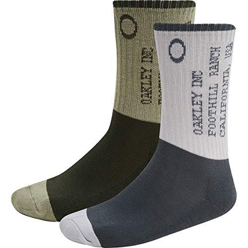 Oakley Iconic Oakley Herren Socken, 2 Stück - Grau - Medium