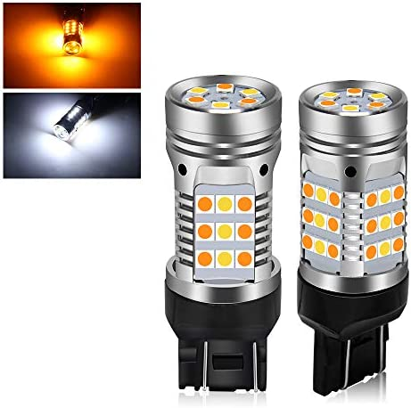 7443 Error Free Canbus Ready Switchback Dual Color Led Turn Signal Lights Bulbs DRL Parking product image
