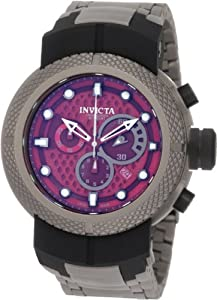 Invicta Men's 0673 Coalition Forces Chronograph Burgundy Dial Titanium Watch Review and For Sale and review image