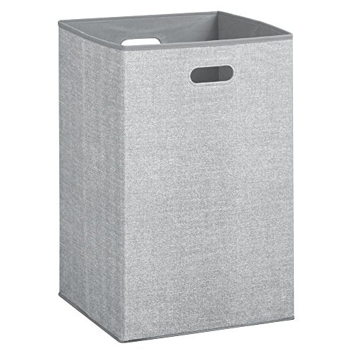 Price comparison product image iDesign Aldo Folding Laundry Clothes Hamper with Handles - Gray