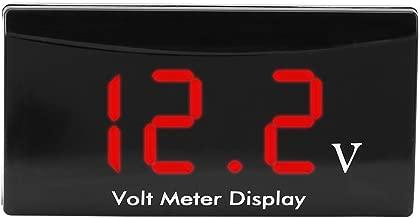 Akozon LED Digital Voltmeter 12 V Auto Motorrad Digital Wasserdicht Sto/ßfest LED Anzeige Voltmeter Spannung Volt Manometer Panel Meter Rotes Wort