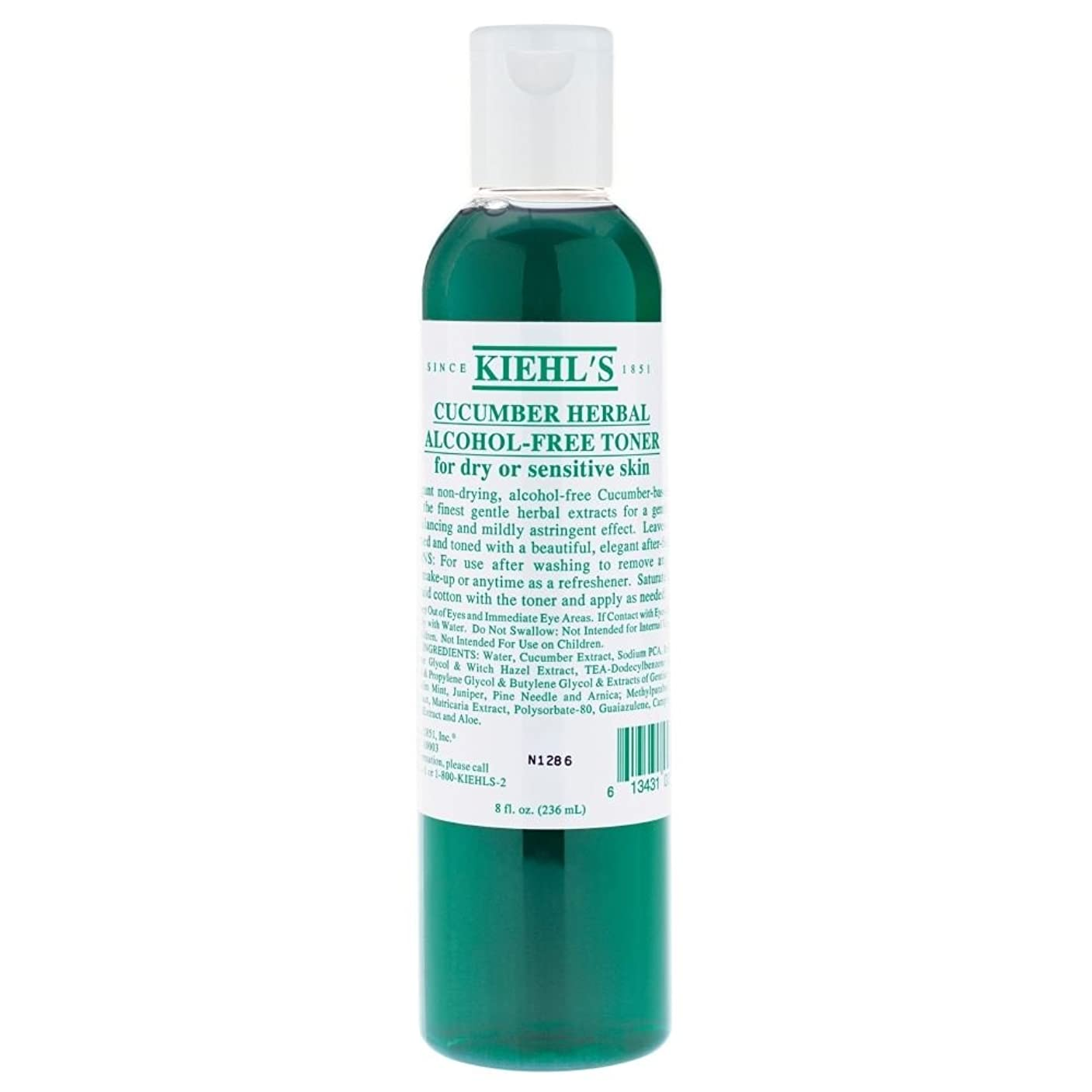 便益スポンサー名門[Kiehl's] キールズキュウリのハーブアルコールフリートナー、250ミリリットル - Kiehl's Cucumber Herbal Alcohol-Free Toner, 250ml [並行輸入品]