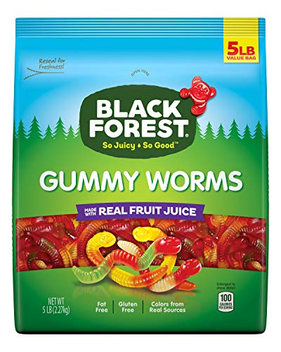 Black Forest Gummy Worms Candy, 5 Pound, Pack of 1 from Black Forest
