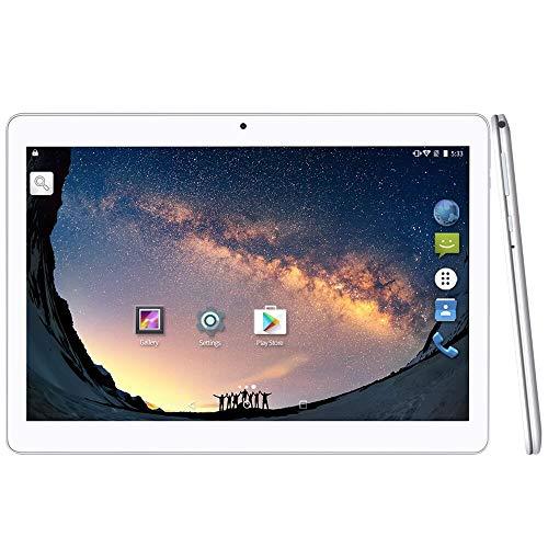 YUNTAB K107 10.1-Zoll-Andorid-Tablet, MTK6580 Quad-Core 1,3 GHz, 2 GB RAM + 16 GB ROM, HD IPS-Bildschirm, Dual-Kamera, Dual-SIM-Slot, Unterstützung 3G / 2G, WLAN, GPS, Bluetooth (Silber)