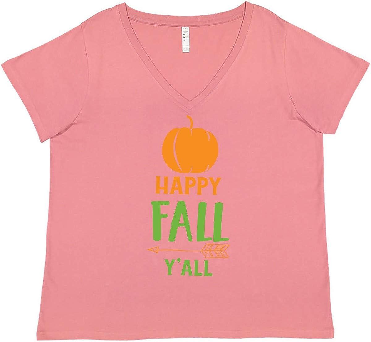 inktastic Happy Fall Y'all Pumpkin Arrow 国内即発送 春の新作 Women's Plus S