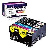 TonerSave 35XL - Cartuchos de tinta compatibles con Epson 35 35XL para Epson Workforce Pro WF 4720DWF WF 4730DWF WF 4725DTWF WF 4730DWF WF 4740DTWF (5 unidades), color negro, cian, magenta y amarillo