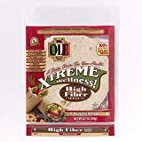 Ole Xtreme Wellness High Fiber/Carb Lean Flour Tortilla Wraps | 8' Size | 8 Count Each Pack | 6 Pack...