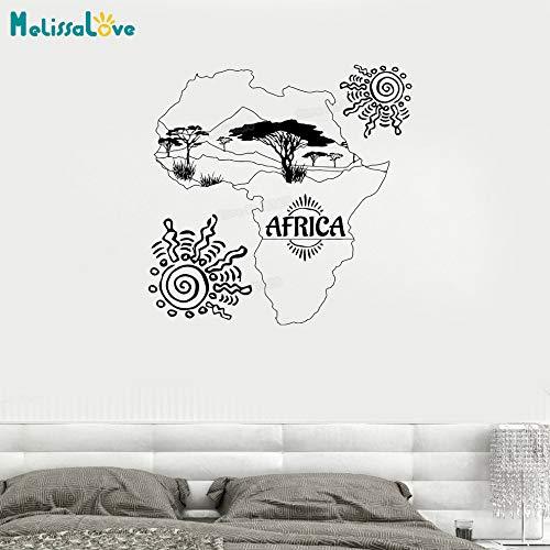 zhuziji Nuevo diseño Tatuajes de Pared Mapa de África Sun