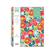"""Day Designer for Blue Sky 2020-2021 Academic Year Weekly & Monthly Planner, Flexible Cover, Twin-Wire Binding, 8.5"""" x 11"""", Floral Sketch"""