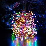 Ankway Luce Energia Solare Natale (200 LED, Filo di Rame 3 Fili, 8 Modi), 22M Luci Stringa Solare Impermeabili, Luci Decorative Energia Solare Auto on/off per Esterno Camera Albero Casa (Multicolore)
