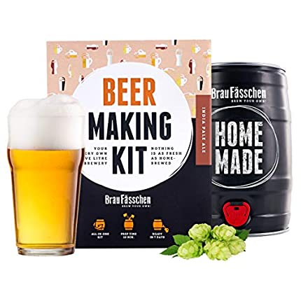 Brewbarrel/Braufässchen - Kit de cerveza (IPA en un barril de 5 L, listo en 7 días)
