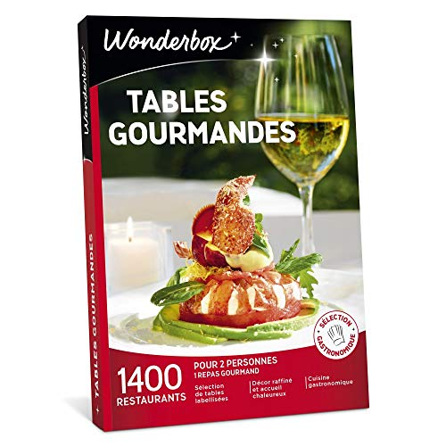 Wonderbox - Coffret cadeau couple- TABLES GOURMANDES – 1400 restaurants renommés, brasseries chics