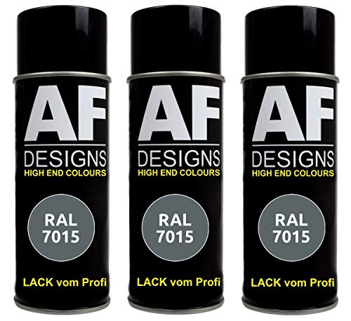 Alex Flittner Designs 3X RAL Lackspray Autolack Buntlack Spraydose RAL7015 SCHIEFERGRAU seidenmatt