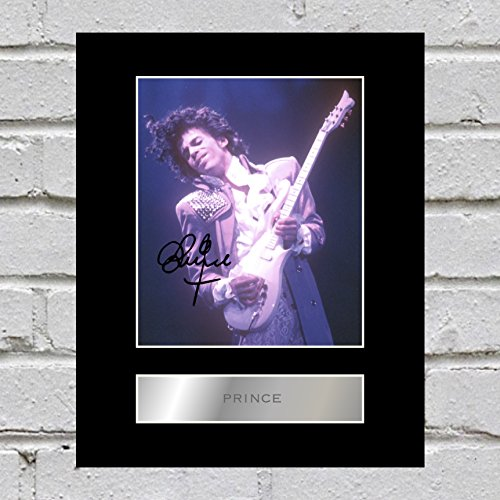 iconic pics Prince Signed Mounted Photo Display Autographed Gift Picture Print