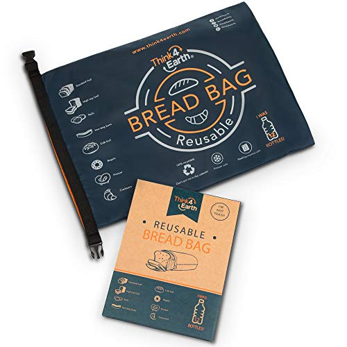 Reusable Bread Bag for Homemade Bread, Made from Recycled Plastic Bottles - Freezer-Safe Food Storage Bag with Double Lining - Premium Bakery Supplies