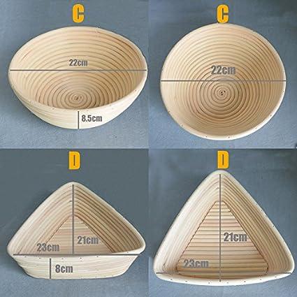 Cesta de rat/án tipo banneton hecha a mano para pan C:22cm