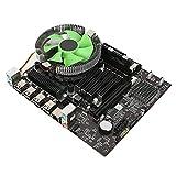 Bewinner X58 Placa Base,8GB LGA 1366 CPU Placa Madre,Nic RTL8105E 100M Integrado,6 Núcleos Conjunto de Placa Base de PC Radiador,Soporte DDR3 1066/1333/1600 MHz,6 Canales Tarjeta de Sonido Integrada