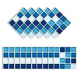 Elinala Stick on Tiles, Self Adhesive Wall Tiles, 30 PCS (10 x 10CM) Durable Waterproof Mosaic...