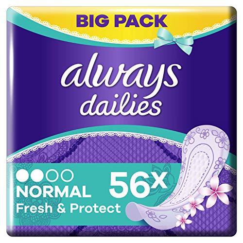 Always Fresh & Protect Normal Fresh Slipeinlagen, 56 Stück