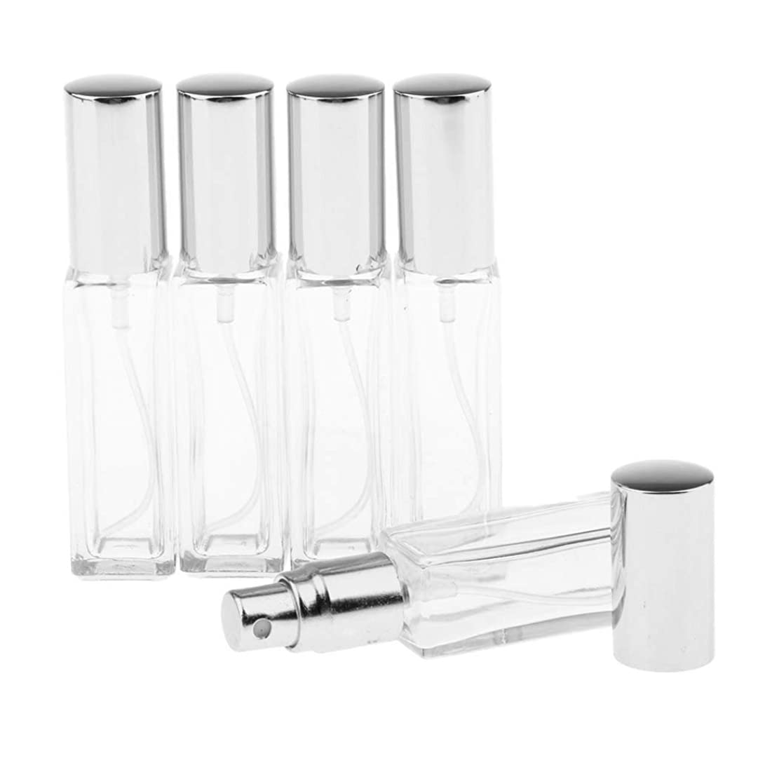 続編薬局盲目SM SunniMix 8ミリリットル 空のスプレーボトル ガラスボトル ポンプスプレーボトル 6色選ぶ 全5点 - 銀色キャップ