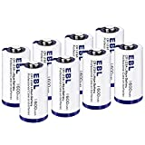 EBL CR123A Batteries 1600mAh 123A 123 High Capacity Lithium Batteries with PTC Protection