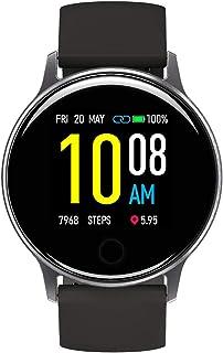 スマートウォッチ UMIDIGI Uwatch 2S 活動量計 歩数計 心拍計 睡眠モニター 5ATM防水 撮影リモート 音楽再生コントロール 着信通知 座り立ち注意 日本語アプリ バッテリー長持ちiphone&Android対応 男女兼用スマート ウォッチ(スペース グレー)