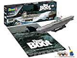 Revell 05675 Geschenkset Das Boot Collector's Edition, Jubiläumsset, Schiffmodell U96 (Type VII C) 1:144, 46,5 cm originalgetreuer Modellbausatz für Einsteiger, mit Basis-Zubehör, unlackiert