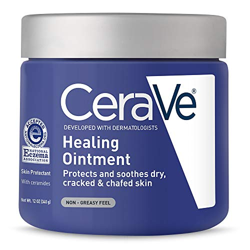 CeraVe Healing Ointment 12 oz with Petrolatum Ceramides for Protecting and Soothing Cracked, Chafed Skin