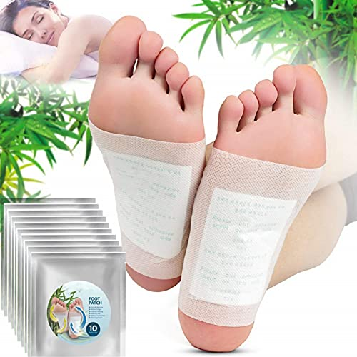 nnko 100PCS Nuubu Detox Foot Patch, Natural Cleansing Foot Pads for Foot Care, Remove Body Toxins and Odor, Sleep Aid & Weight Loss