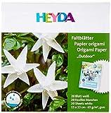 Heyda - 5 fogli pieghevoli per esterni, 15 x 15 cm, 20 fogli