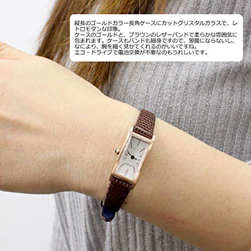 [シチズン]CITIZENキーKii:エコドライブソーラー腕時計レディースEG7044-06A