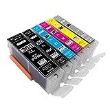 BCI-381XL+380XL/6MP ZAZ 互換インク BCI-381XL (BK/C/M/Y/GY) + 380XLPGBK 6色マルチパック BCI-381 BCI-380 1年保証付 XL大容量タイプ ICチップ付 残量表示可能 (380-6-1)