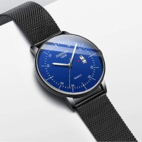 JYTFZD YANGHAO-Reloj de Pulsera- Reloj Ultra-Delgado de los Hombres 2021 Nuevo Reloj de Hombre de Moda Simple de Moda Simple (Color: E) OUZDNSSB-5 (Color : B)